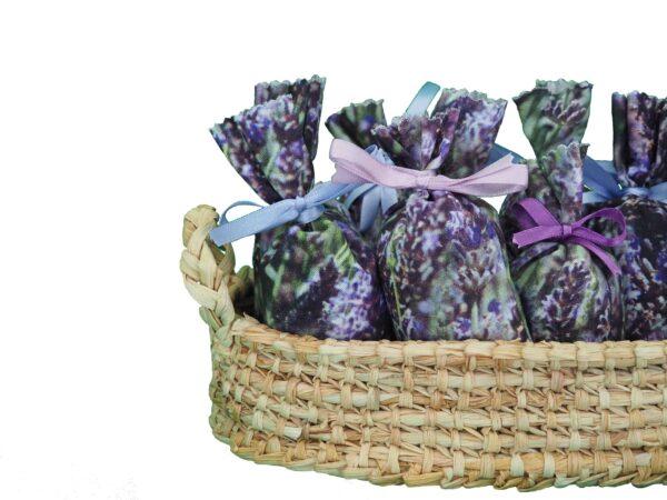 saquitos aromáticos con lacitos de colores
